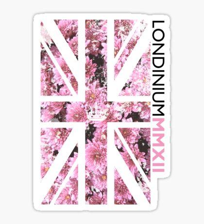 London 2012 - Londinium MMXII Union Jack Floral Sticker