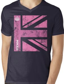 London 2012 - Londinium MMXII Union Jack Pink Mens V-Neck T-Shirt