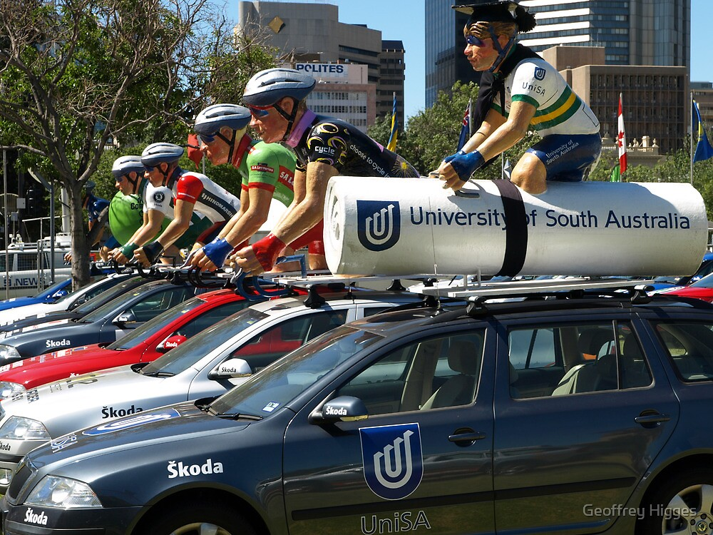 Tour Down Under - Jersey Colours by Geoffrey Higges