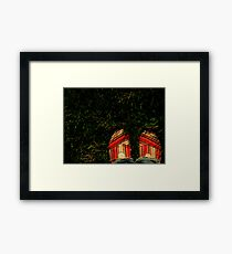 Shoes in the Grass Framed Print