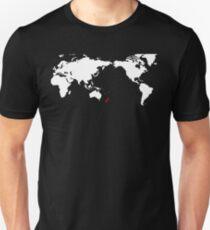 World Map New Zealand T-Shirt