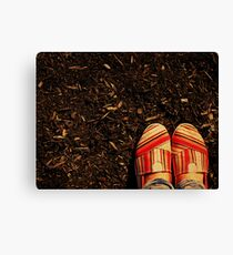 Shoes in the Mulch Canvas Print
