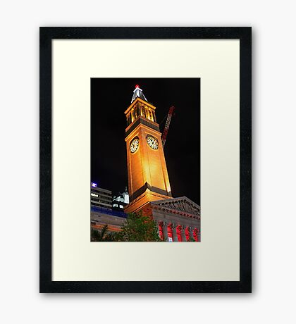 Brisbane City Hall with a Cherry on Top Framed Print