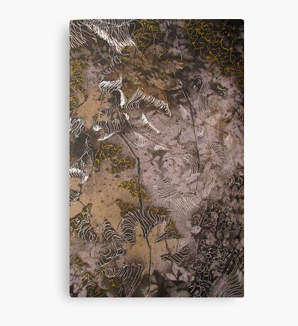 experimental silver gel pen Canvas Print