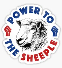 Power To The Sheeple Sticker