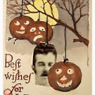 Best wishes (Vintage Halloween Card) by Joseph Welte
