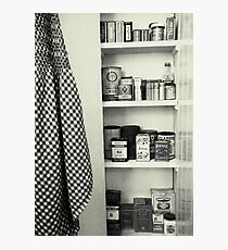 """Kitchen - Spice Cupboard - 1940's""   Photographic Print"