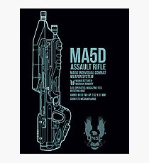 MA5D Assault Rifle Photographic Print
