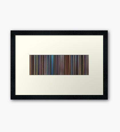 Moviebarcode: The Complete Pixar Feature Films (1995-2011) Framed Print