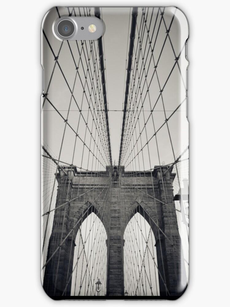 Brooklyn Bridge - New York City | B/W - iPhone/iPod by thomasrichter