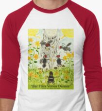 Bar Flies Versus Daisies Men's Baseball ¾ T-Shirt