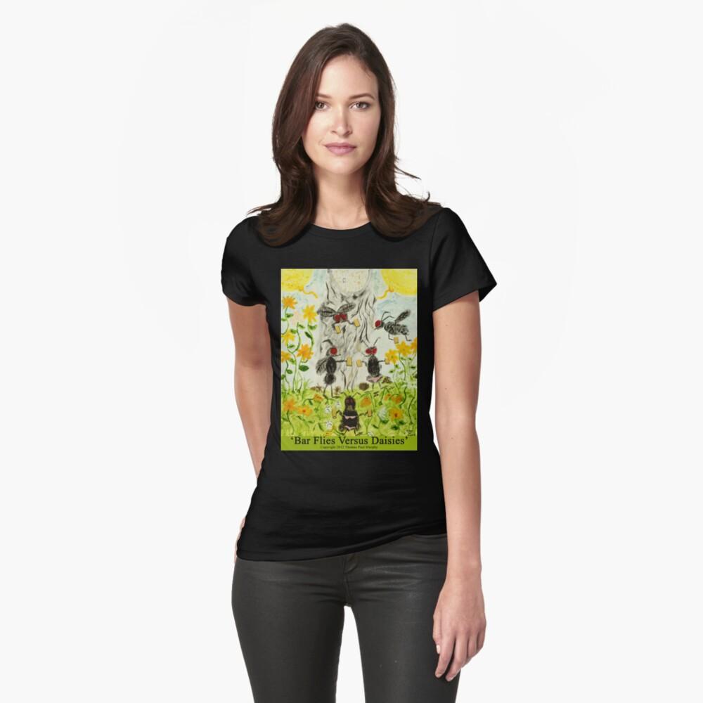 Bar Flies Versus Daisies Womens T-Shirt Front