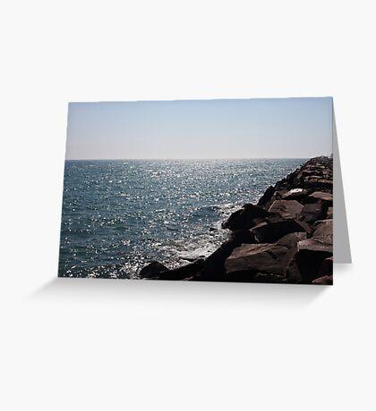 Glistening Horizon Lake Michigan Scene Greeting Card