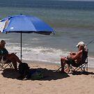 Fishing and Reading, Sun and Shade - Pescando y Leiendo, Sol y Sombra by PtoVallartaMex