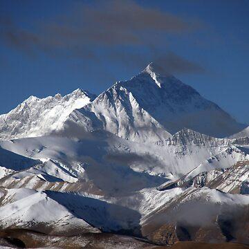 Mount Everest Tibet by AlfSharp