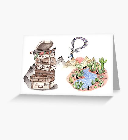 Let's Go Adventuring Greeting Card