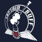 Captain Buff - Retro Logo by redpumpkinart