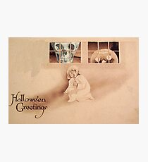 Wrong Shoulder... (Vintage Halloween Card) Photographic Print