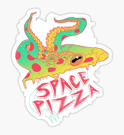 Space Pizza Sticker