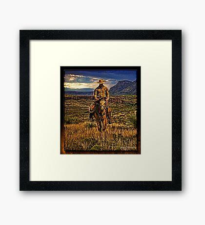 The Texas Ranger Framed Print