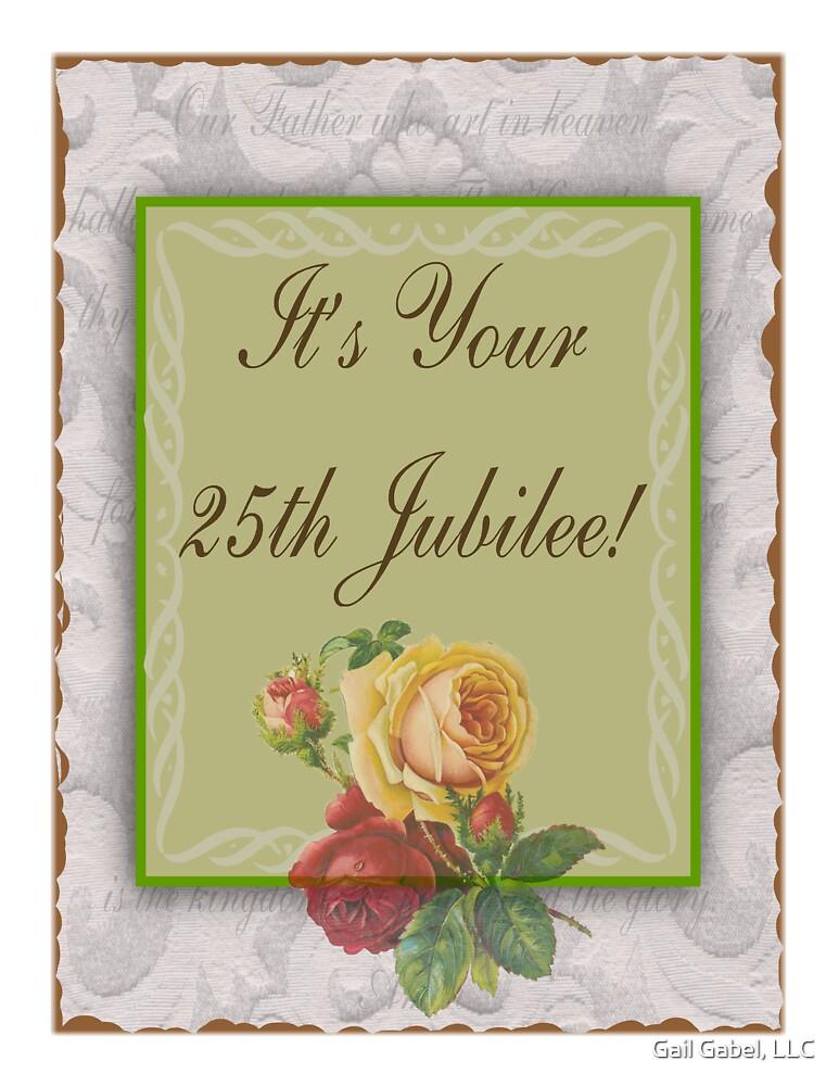 Nuns 25th Silver Jubilee Card by Gail Gabel, LLC