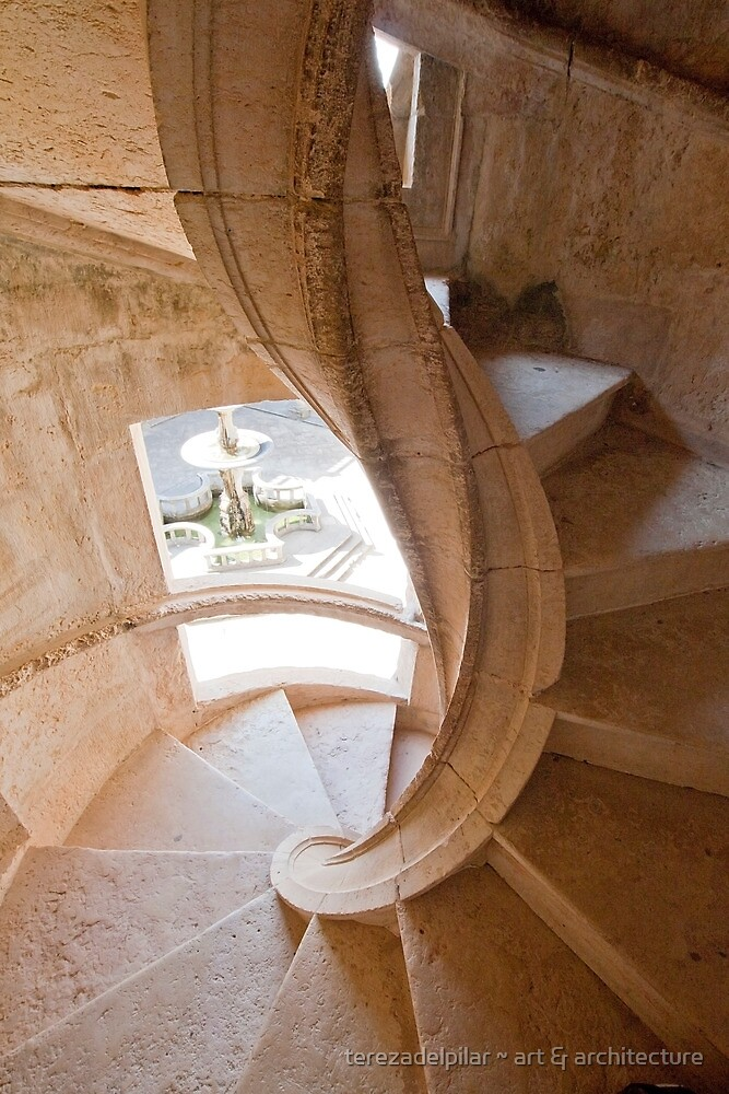 Tomar. Convent of Christ. Cloister stairs by terezadelpilar ~ art & architecture