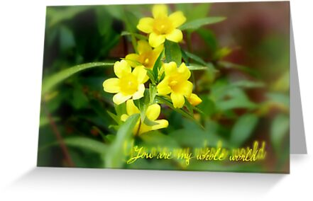 You are my whole world - greeting card by Scott Mitchell