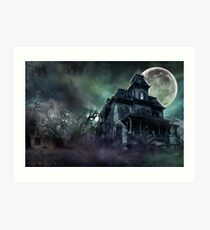 The Haunted House Paranormal Art Print