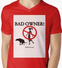 BadOwner Clothes - Sick of the Poo Mens V-Neck T-Shirt