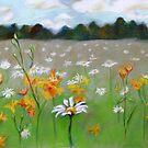 Camomile field. by Evgenia Attia