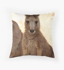 Kangaroos up Close Throw Pillow
