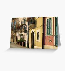 Sicilian Façade Greeting Card