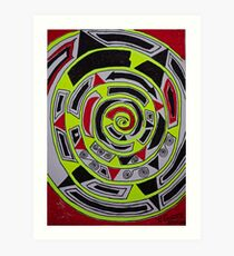 Adar (אדר) abstract.  Hand made  by Doktor Faustus. Views 1007 . Thank you friends ! Featurted Art Changing the World - Futurism. Art Print