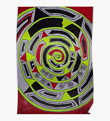 Adar (אדר) abstract.  Hand made  by Doktor Faustus. Views 1007 . Thank you friends ! Featurted Art Changing the World - Futurism. Poster