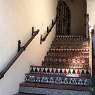 Tiled stairwell in Carmel by Marjorie Wallace
