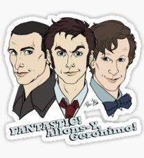 New Who Doctors: FANTASTIC! Allons-Y, Geronimo! Sticker