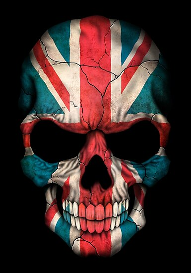 Quot British Flag Skull Quot Posters By Jeff Bartels Redbubble