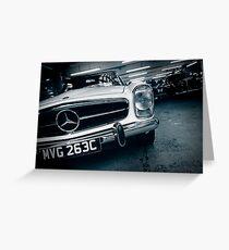 Benz Garage London Greeting Card