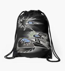 3 crows Drawstring Bag