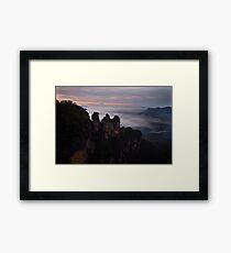 The Three Sisters, Blue Mountains, Australia Framed Print
