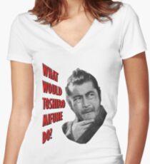 Toshiro Mifune Women's Fitted V-Neck T-Shirt