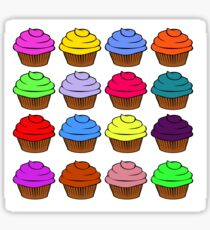 All the cupcakes Sticker