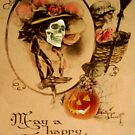 Happy Halloween (Vintage Halloween Card) by Joseph Welte
