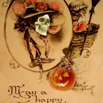 Happy Halloween (Vintage Halloween Card) by jibbsmerch