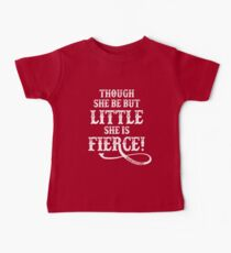 Shakespeare Quote Typography - Though She Be ... Baby T-Shirt
