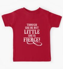 Shakespeare Quote Typography - Though She Be ... Kids Clothes