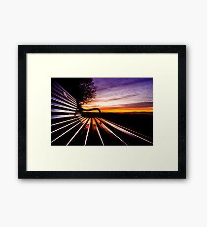 Take A Seat Framed Print