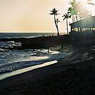 Sunset on Poipu Beach, Kauai, Hawaii, USA by Leah Gay