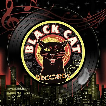 Black Cat LP Art Deco by themonsterstore