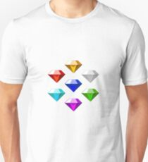 Sonic The Hedgehog Chaos Emeralds Unisex T-Shirt